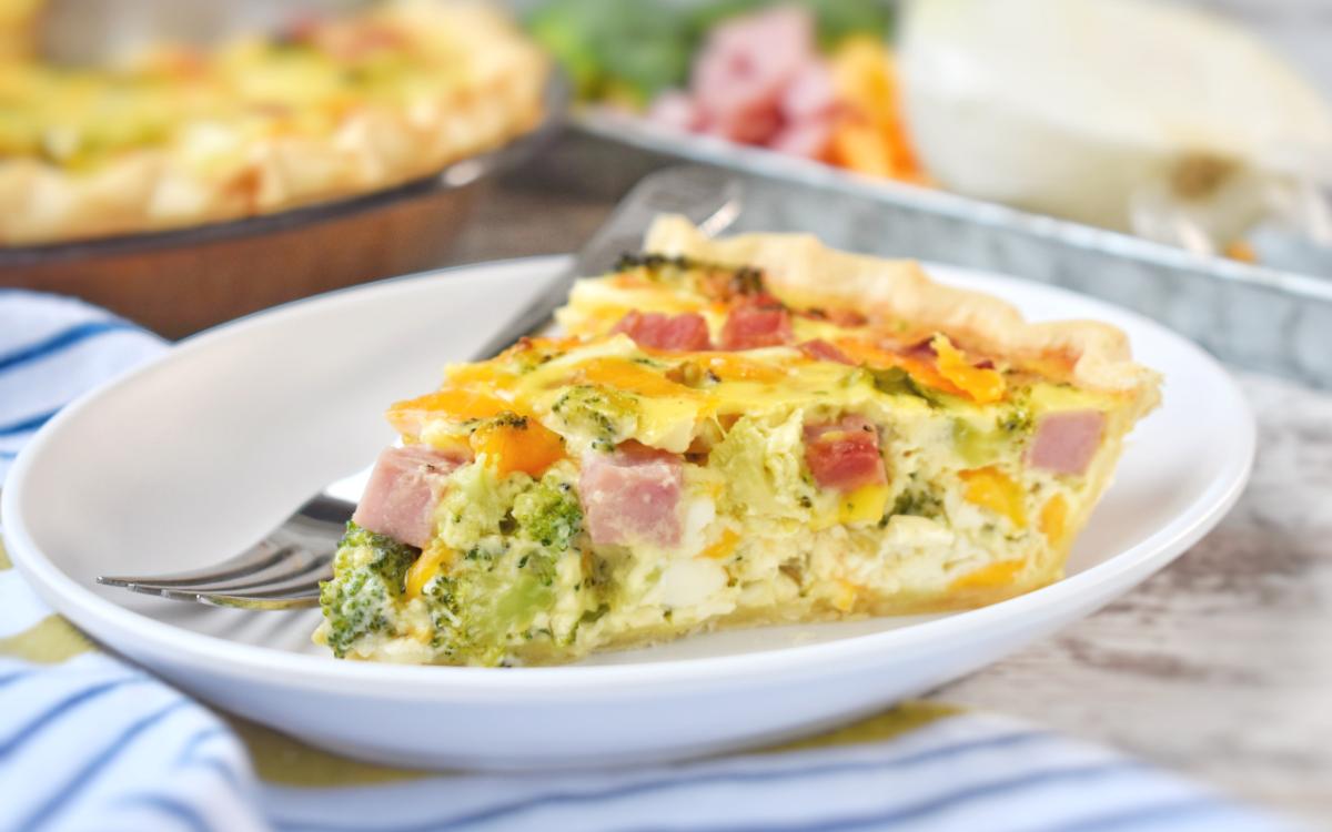 Ham and Broccoli Quiche - EatWheat