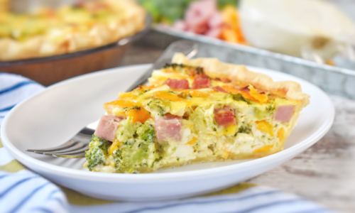 Ham and Broccoli Quiche - EatWheat