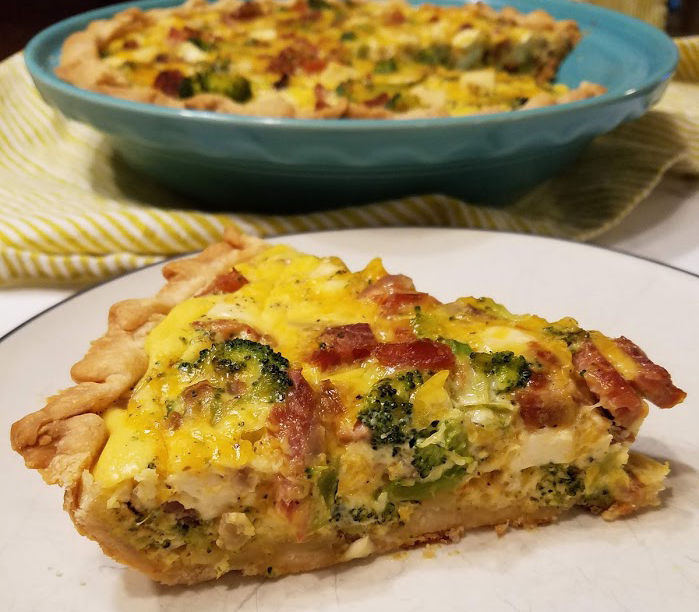 Photo: Ham and Broccoli Quiche.