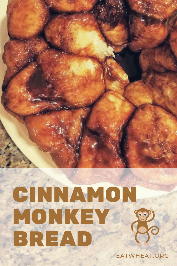 Cinnamon Monkey Bread is ooey, gooey and yummy! Only takes 5 simple ingredients! Great for overnight guests. Assemble the night before and pop into the oven the next morning. Serve with a steaming cup of coffee and fresh fruit. | EatWheat