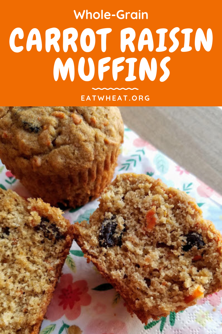 Whole Grain Carrot Raisin Muffins | EatWheat