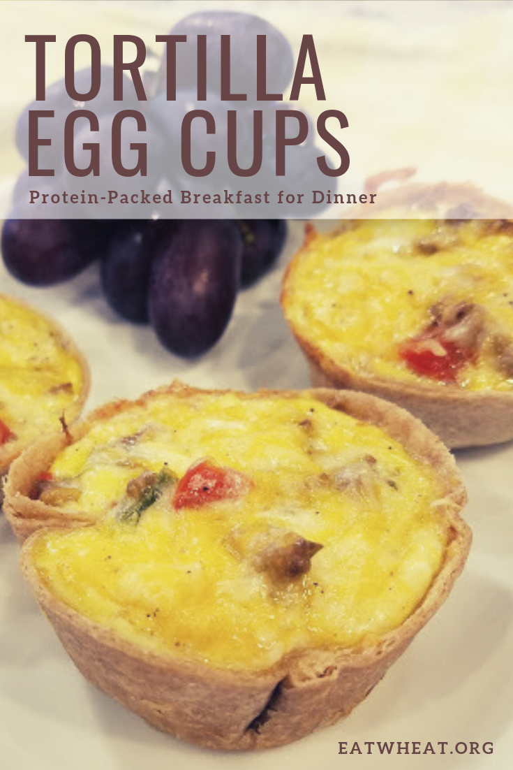 Breakfast for dinner anyone? Protein-packed tortilla egg cups can make for an easy weeknight meal or the perfect start to your day! | EatWheat.org