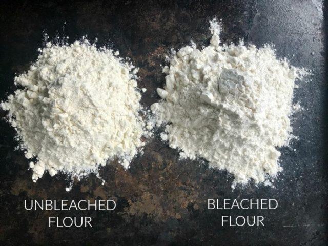 Bleached vs. Unbleached flour
