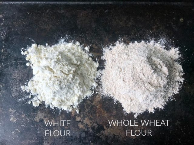 White vs. Whole Wheat Flour