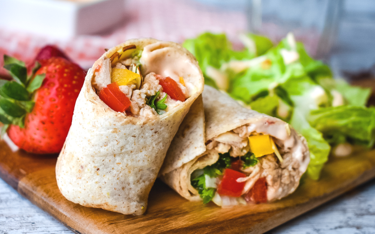 Asian Chicken Wraps.