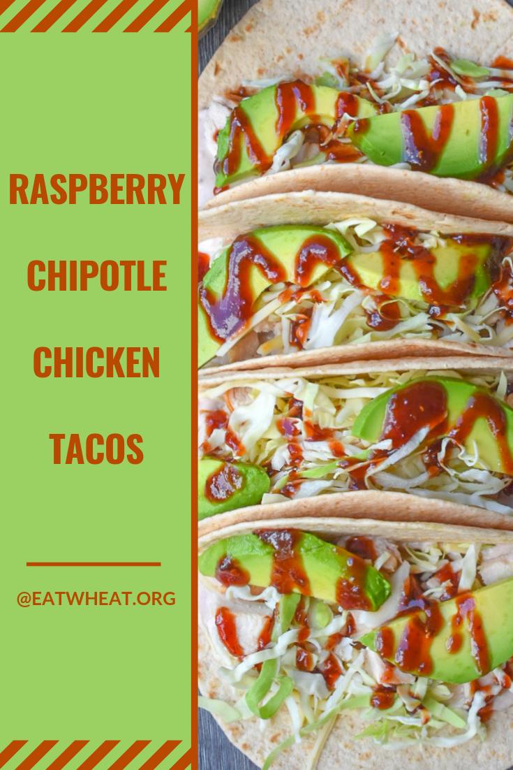 Raspberry Chipotle Chicken Tacos