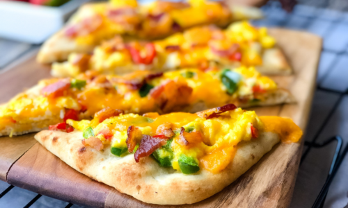 Naan Breakfast Pizza.