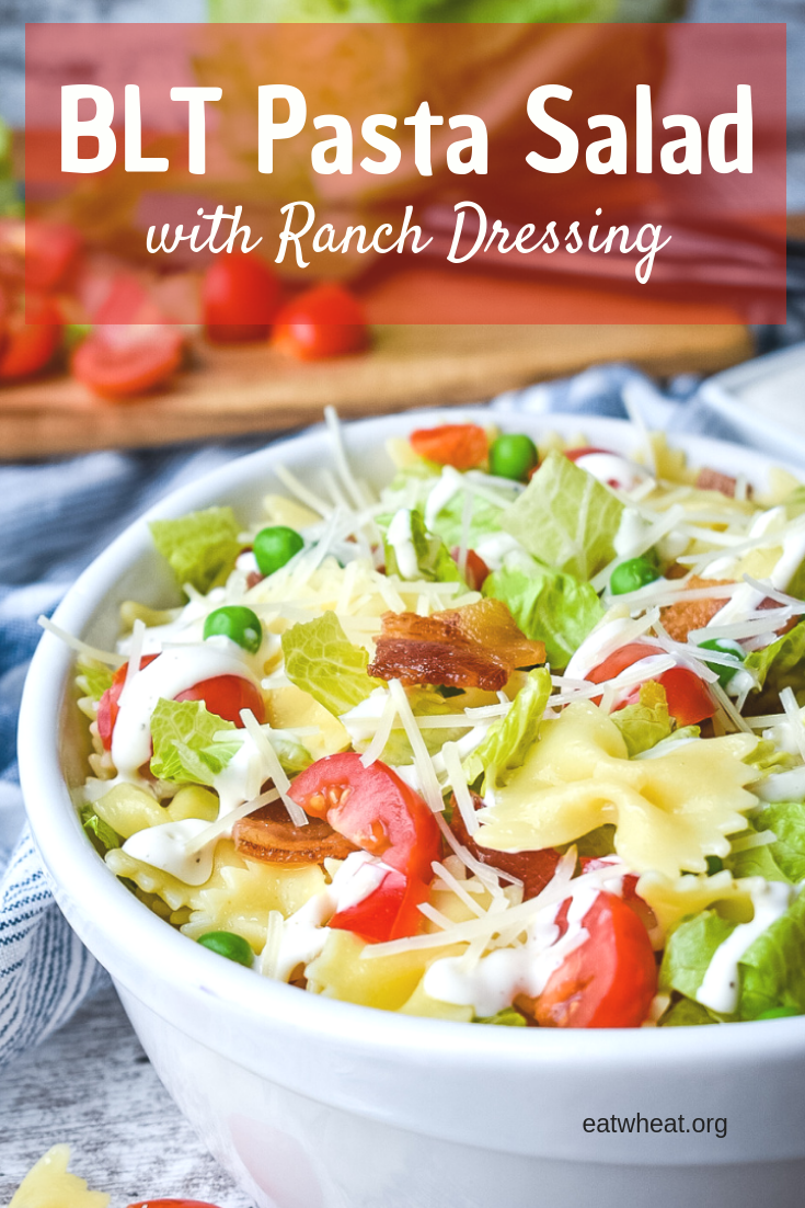 BLT Pasta Salad with Ranch Dressing - EatWheat.