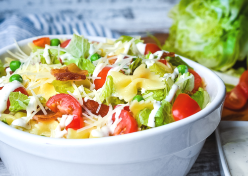 BLT Pasta Salad with Ranch.