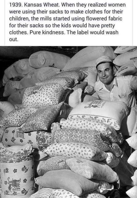 Flour sacks and pretty clothes. The viral photo that started it all.