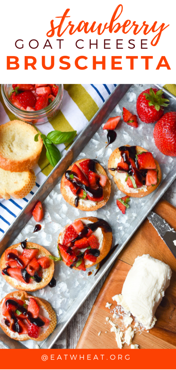 Strawberry Goat Cheese Bruschetta - EatWheat