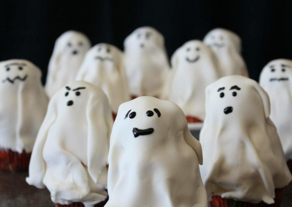 Boo-tiful Ghost Cupcakes.