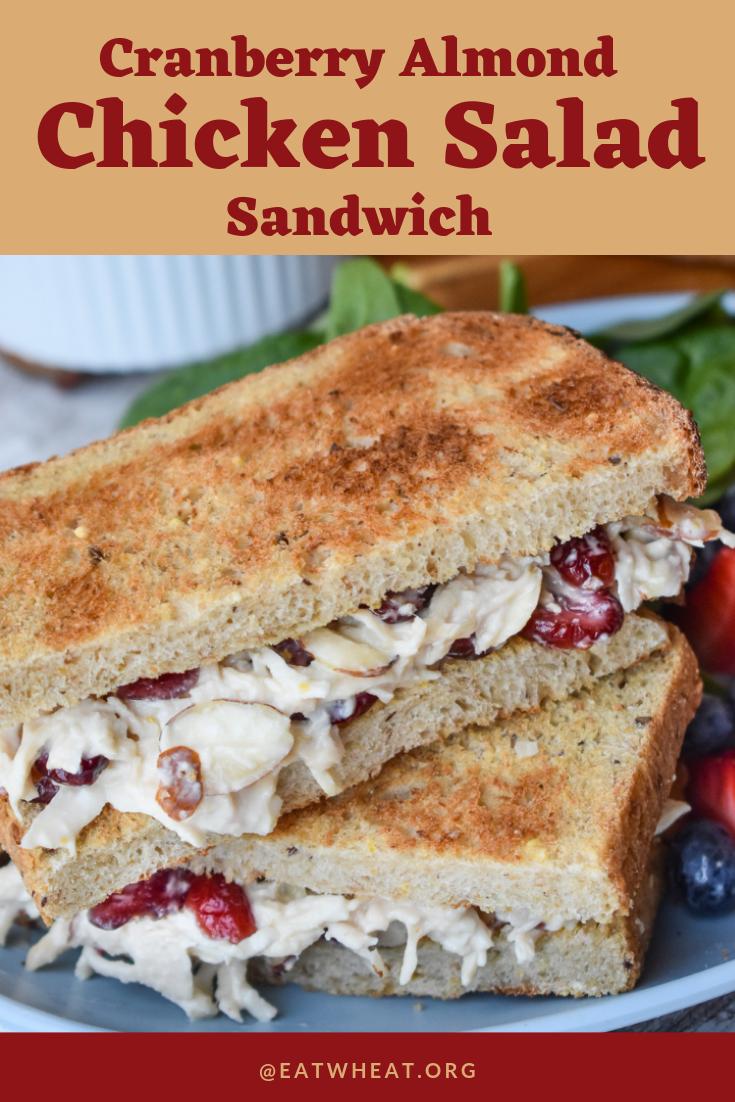 Cranberry Almond Chicken Salad Sandwich.