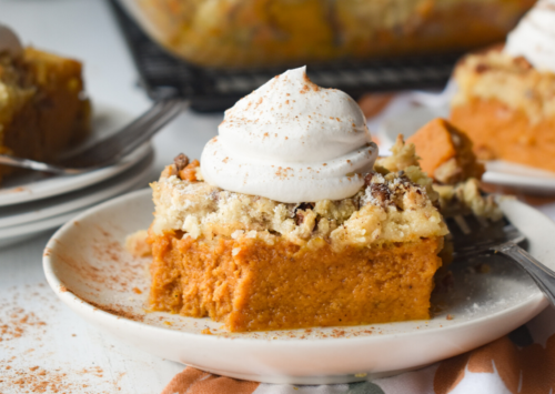 Image: Pumpkin Pie Cake.