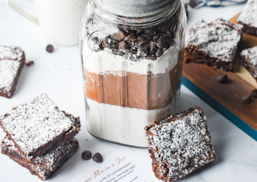 Photo: Chewy Brownie Mix in a Jar.