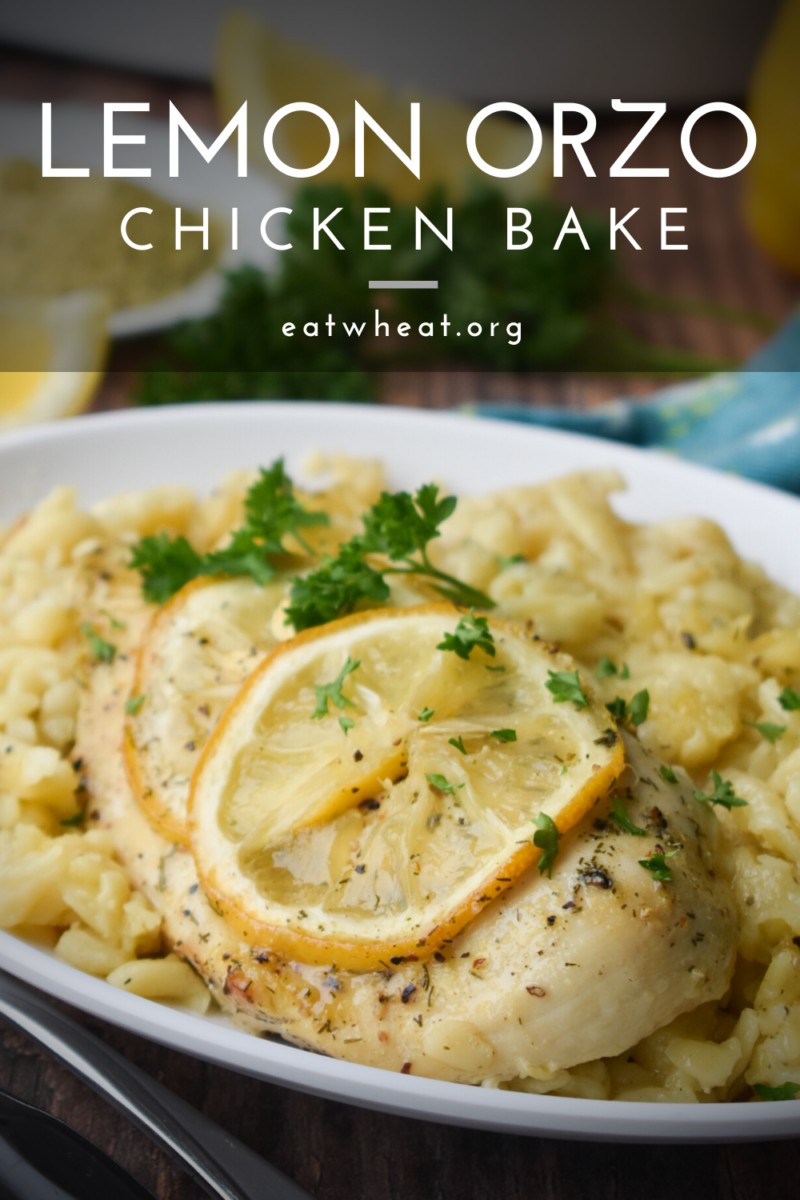 Photo: Lemon Orzo Chicken Bake.