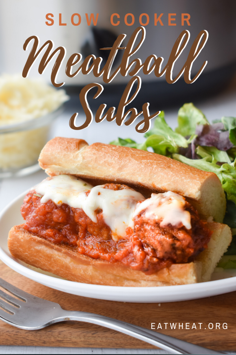 Slow Cooker Meatball Subs.