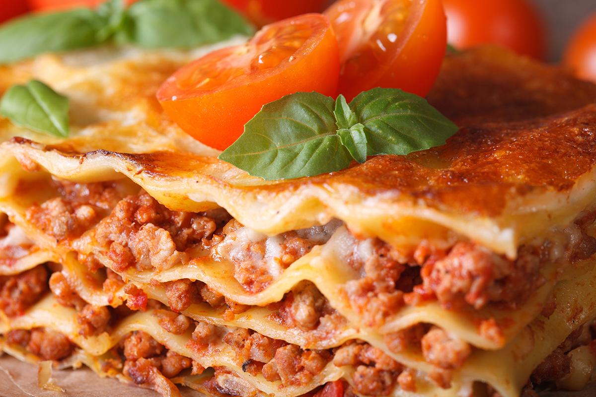 Ground Beef Lasagna.
