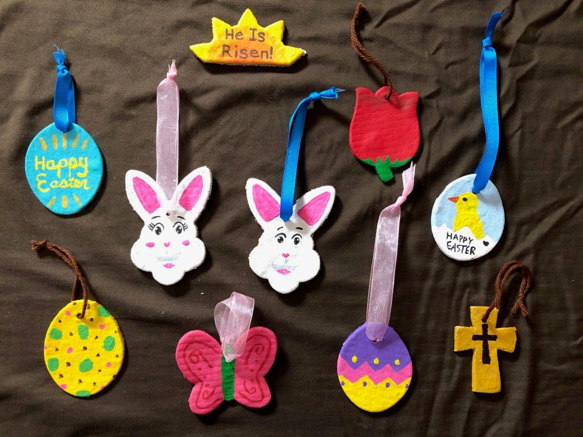 Image: Decorated Easter Salt Dough Ornaments.