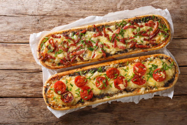 Photo: French Bread Pizza.