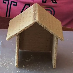 Photo: Graham cracker house step 3.
