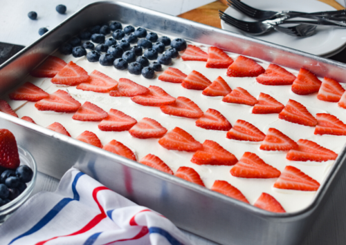 Image: Stars and Stripes Poke Cake.