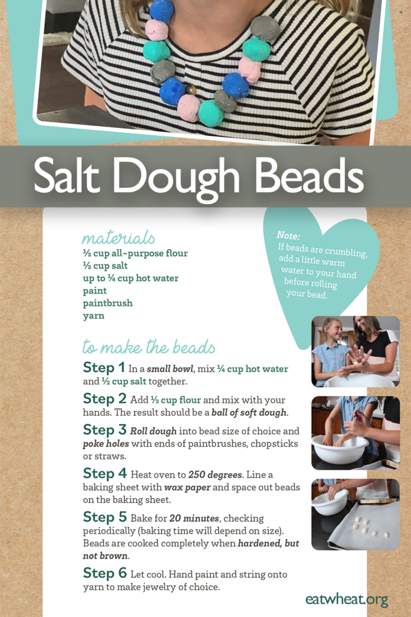 Image: Salt Dough Beads Necklace Instructions.