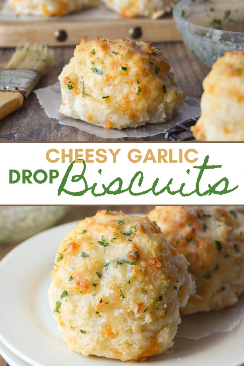 Image: Cheesy Garlic Drop Biscuits.