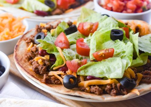 Photo: Mexican Tostada Salad.