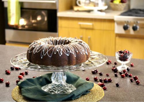 Cranberry Sauce Orange Swirl Cake