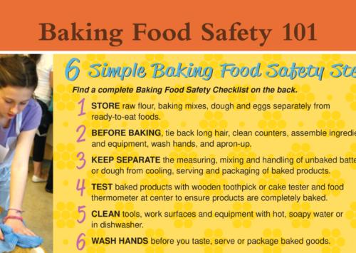 Image: Baking Food Safety 101.