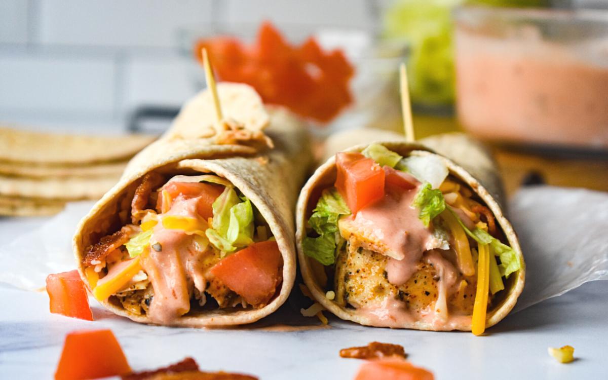 Photo: Southwest Chicken Bacon Wraps.