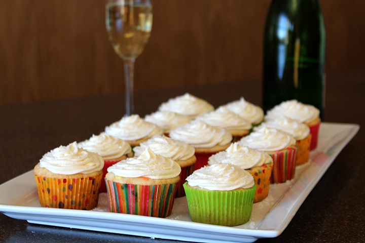 Photo: Celebration Cupcakes with Champagne Frosting.