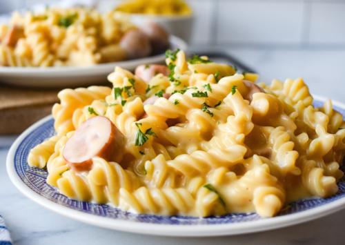 Cheesy Smoked Sausage Pasta