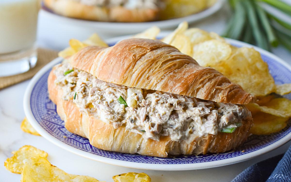 Photo: Tuna Salad Croissant Sandwich.