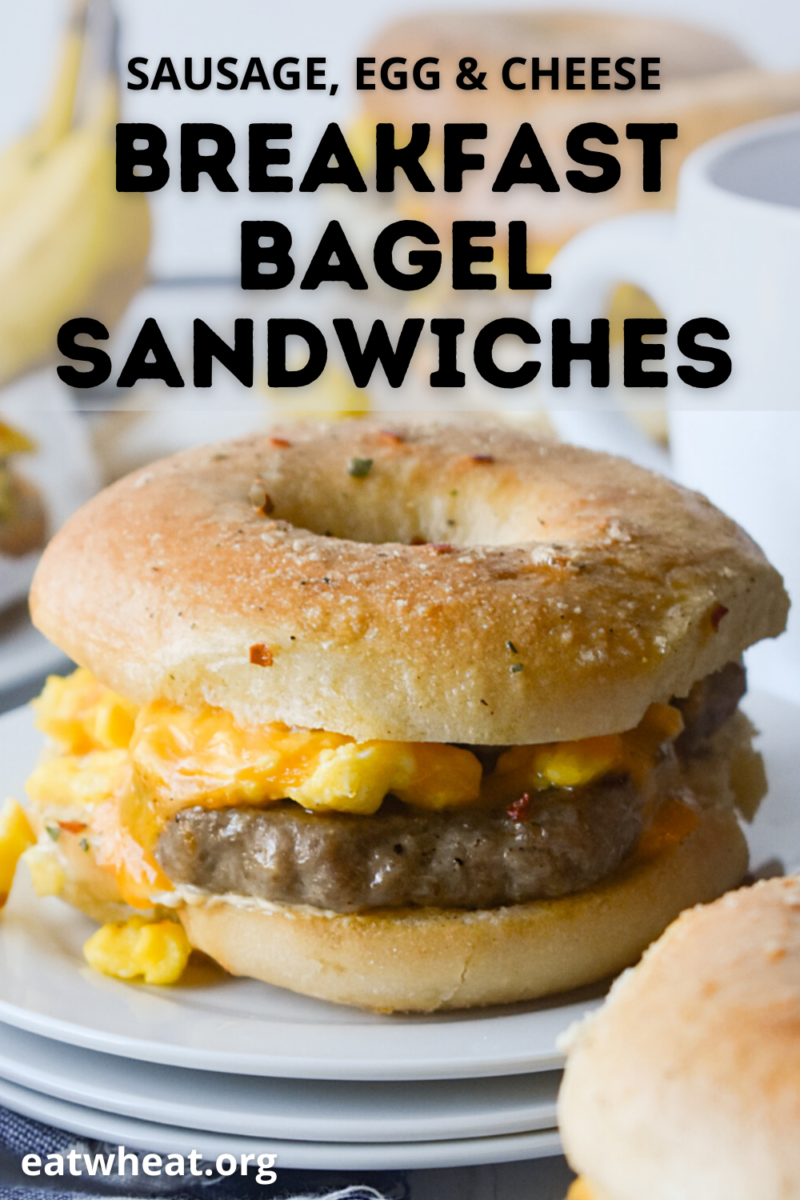 Image: Sausage, Egg & Cheese Breakfast Bagel Sandwiches.