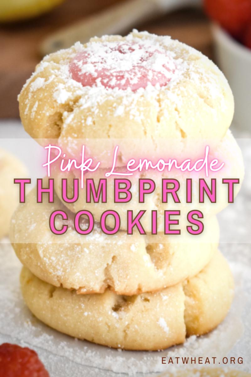 Image: Pink Lemonade Thumbprint Cookies.