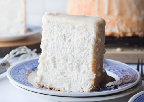 Photo: Angel Food Cake with Creamy Glaze.
