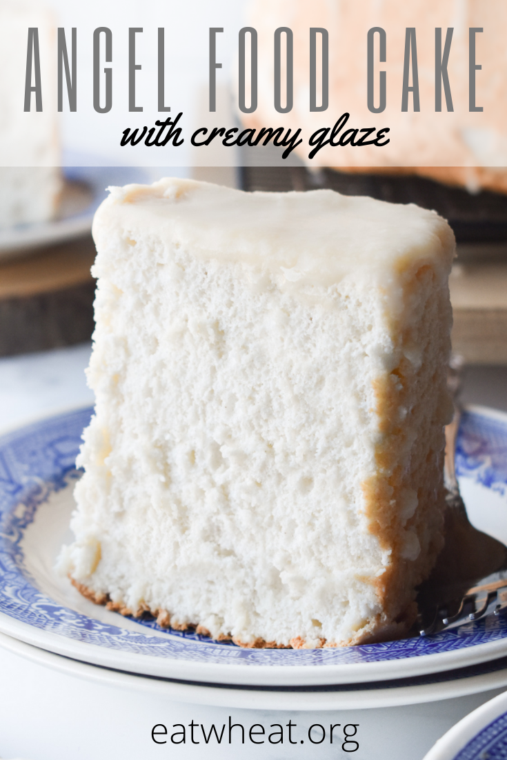 Image: Angel Food Cake with Creamy Glaze.