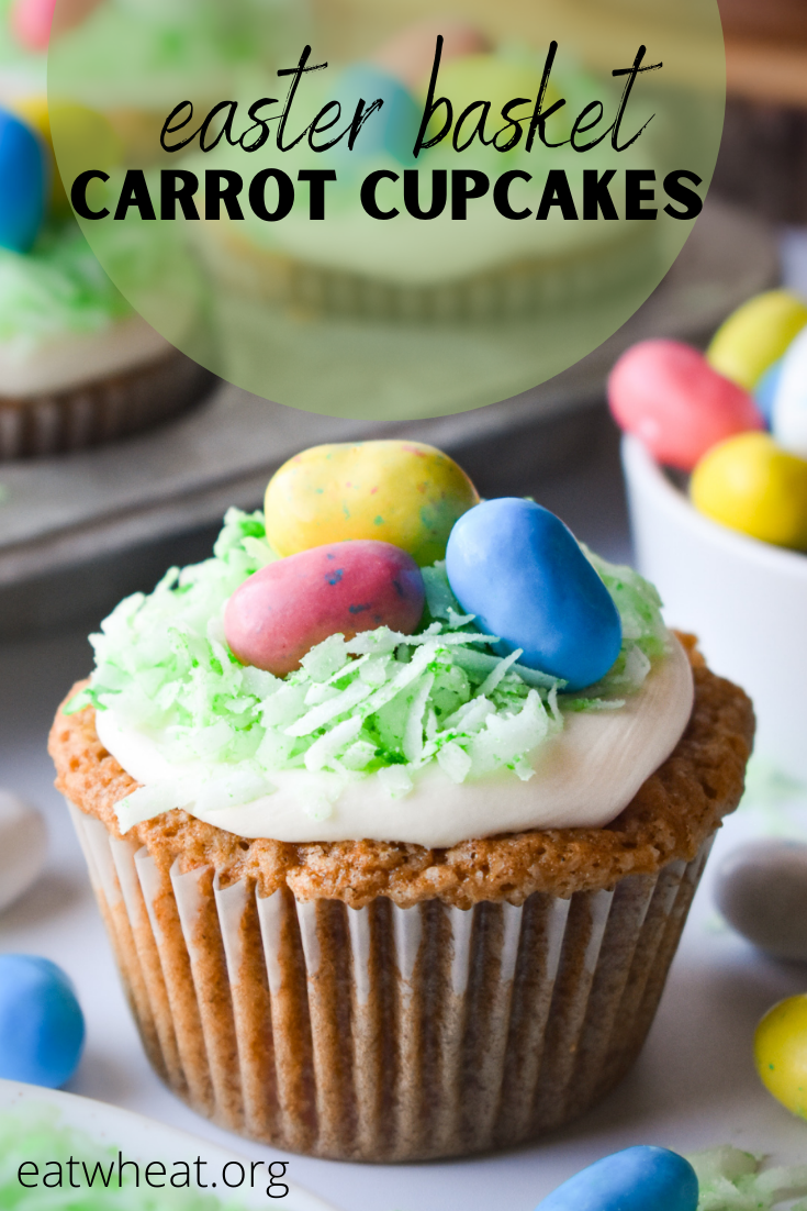 Image: Easter Basket Carrot Cupcakes.