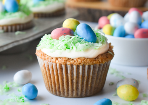 Photo: Easter Basket Carrot Cupcakes.