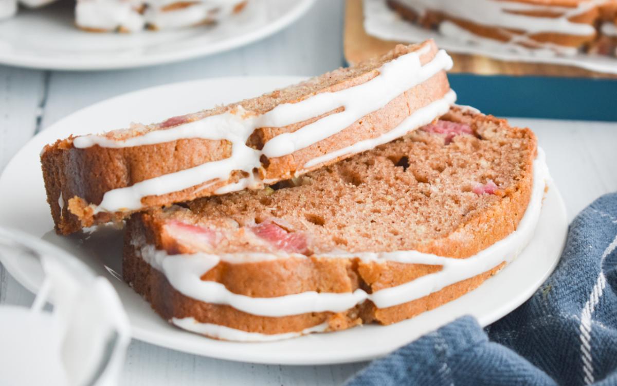 Photo: Tender Rhubarb Bread.