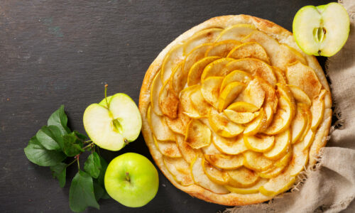 Celebrate National Apple Pie Day with a tasty apple pie.