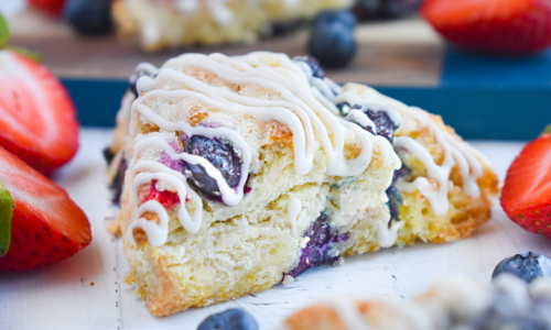 Photo: Red White and Blueberry Scones.