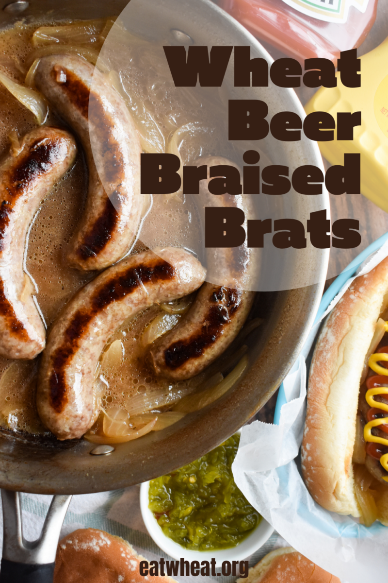 Image: Wheat beer braised brats.