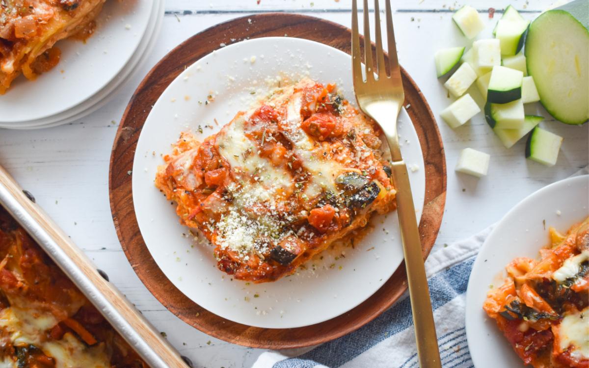 Photo: Vegetable lasagna.