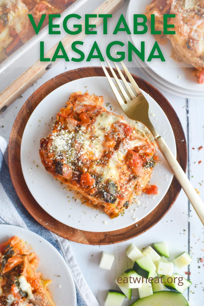 Image: Vegetable Lasagna.