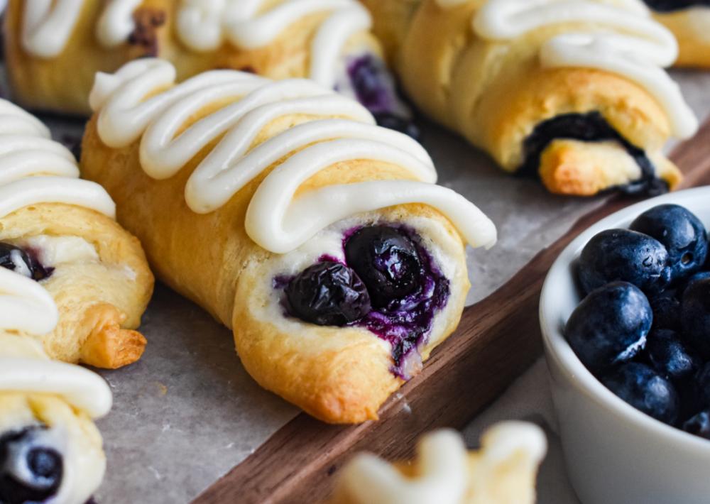 Photo: Blueberry Cream Cheese Crescents.