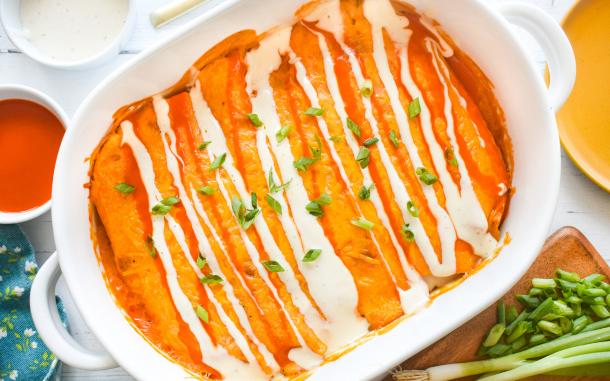 Photo: Buffalo Chicken Enchiladas.